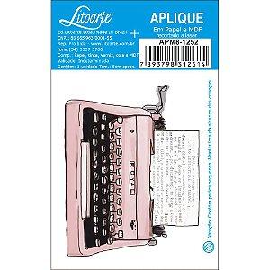 APM8-1252 - Aplique Litoarte Em Papel E MDF - Maquina Escrever