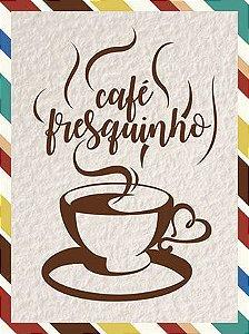 APM8-1117 - Aplique  Litoarte Em Papel E MDF - Café Fresquinho
