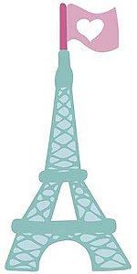 APM8-1214 - Aplique  Litoarte Em Papel E MDF - Amor Love Story Torre Eifel