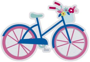 APM8-1213 - Aplique  Litoarte Em Papel E MDF - Amor Love Story Bicicleta