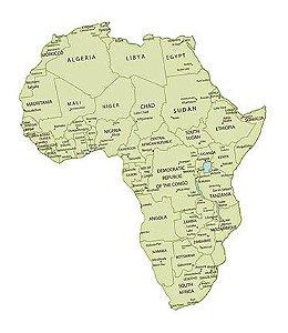 APM8-1062 - Aplique Litoarte Em Papel E MDF - Mapa Da África