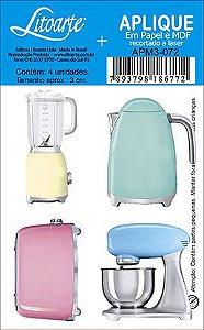APM3-072 - Aplique Litoarte Em Papel E MDF - Eletrodomésticos