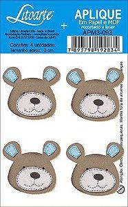 APM3-093 - Aplique Litoarte Em Papel E MDF - Urso
