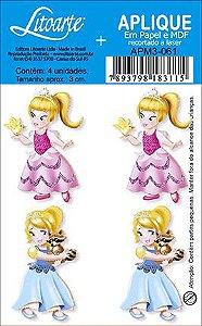 APM3-061 - Aplique Litoarte Em Papel E MDF - Princesas