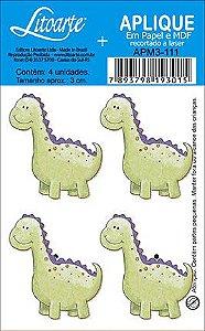 APM3-111 - Aplique  Litoarte Em Papel E MDF - Dinossauro