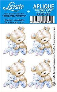 APM3-085 - Aplique  Litoarte Em Papel E MDF - Ursinho