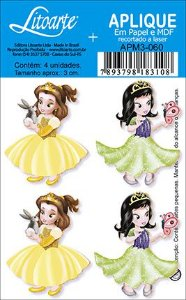 APM3-060 - Aplique  Litoarte Em Papel E MDF - Princesas
