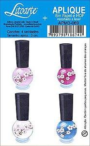 APM3-069 - Aplique  Litoarte Em Papel E MDF - Esmaltes