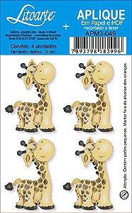 APM3-049 - Aplique  Litoarte Em Papel E MDF - Girafa