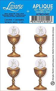 APM3-040 - Aplique Litoarte Em Papel E MDF - Religioso