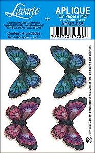 APM3-036 - Aplique Litoarte Em Papel E MDF - Borboleta
