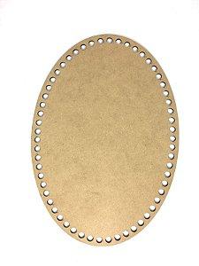Base de Crochê Oval Cesto Fio Malha 30 cm MDF 3 mm