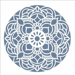 Stencil 14×14 Simples – Mandala Flor Redonda – OPA 2694