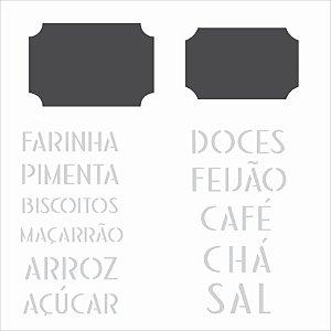 Stencil 14×14 Simples – Tag Alimentos – OPA 2341