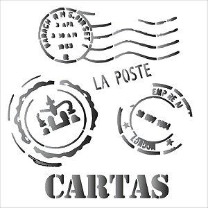 Stencil 14×14 Simples – Cartas – OPA 1135