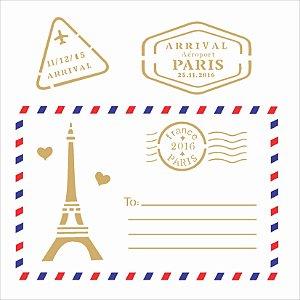 Stencil 14×14 Simples – Cartão Postal Paris – OPA 2008