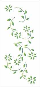 Stencil 7×15 Simples – Flores Margarida – OPA 1963