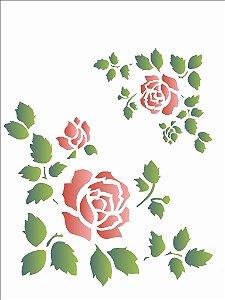 Stencil 15×20 Simples – Cantoneira Rosas – OPA 1044