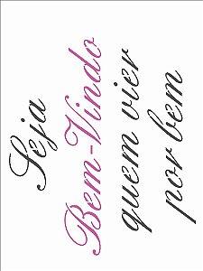 Stencil  15×20 Simples – Frase Seja Bem-Vindo – OPA 2710