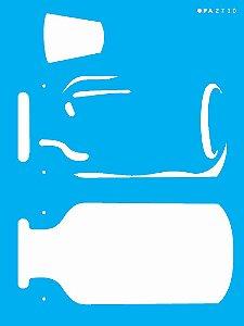 Stencil 15×20 Simples – Frasco – OPA 2700