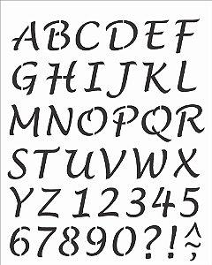 Stencil 20X25 Simples – Alfabeto Lucinda Maiúsculo OPA 2508