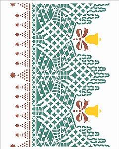 Stencil 20×25 Simples – Renda Natal I – OPA 2737