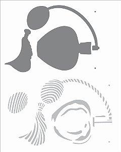 Stencil  20×25 Simples – Perfume – OPA 2727
