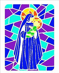 Stencil 20×25 Simples – Vitral Nossa Senhora II – OPA 2741