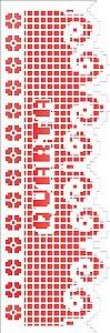 Stencil 10×30 Simples – Negativo Renda Semana IV – OPA 2677