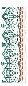 Stencil 10×30 Simples – Negativo Renda Pinheiro – OPA 2734