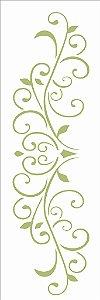 Stencil 10×30 Simples – Arabesco Folhas e Coração – OPA 2417