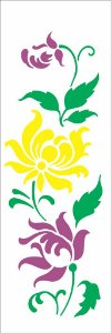 Stencil 10×30 Simples – Flor Bauer II – OPA 2330