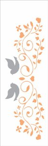 Stencil 10×30 Simples – Arabesco Casamento – OPA 2416
