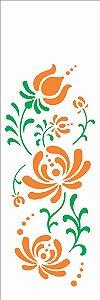 Stencil 10×30 Simples – Flor Bauer I – OPA2329