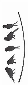 Stencil 10×30 Simples – Pássaros – OPA 2161