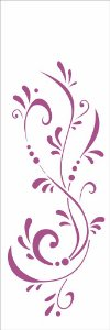 Stencil   10×30 Simples – Arabesco Gotas – OPA 1717