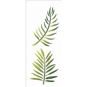 Stencil 10×30 Simples – Folhas de Palmeira – OPA 2569