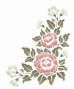 Stencil 20×25 Simples – Cantoneira Flores – OPA 2582