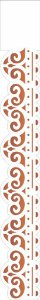 Stencil 4X30 Simples – Arabesco Bordado – OPA 1921