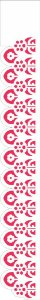 Stencil 4X30 Simples – Flor e Arco – OPA1924