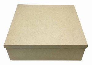 Caixa Lisa Quadrada MDF  Tampa Sapato Solta 20x20x15 cm