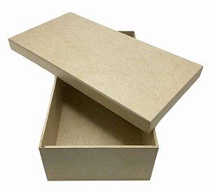 Caixa Lisa Quadrada MDF  Tampa Sapato Solta 30x15x08 cm