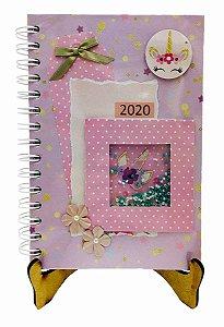 Agenda Personalizada 2020 - Unicórnio - 20x15 cm