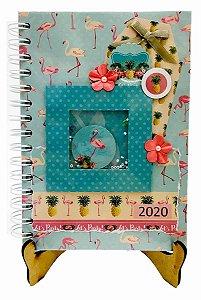 Agenda Personalizada 2020 - Flamingo - 20x15 cm