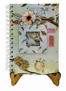 Agenda Personalizada 2020 - Passarinhos - 20x15 cm