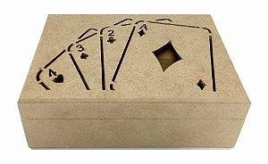 Caixa Porta Baralho Cartas Truco Naipe Promoção - Modelo 2
