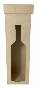 Caixa Para Garrafa Vinho Vazada MDF Tampa Solta Promoção