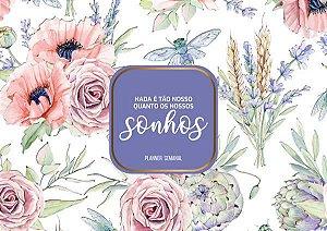 Agenda Planner Semanal Flores 3 PL-003 + Capa e Wire-o