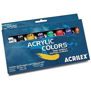 Tinta Acrílica p/Tela Acrylic Colors Acrilex 20ml