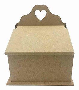 Caixa Porta Sabão Tampa Articulada MDF - Crú 100% Qualidade